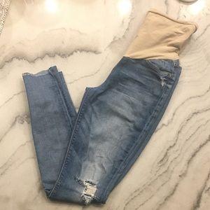 7FAMK// distressed skinny jeans, size 28